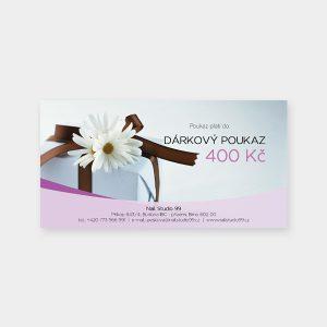 Dárkový poukaz - 400 Kč
