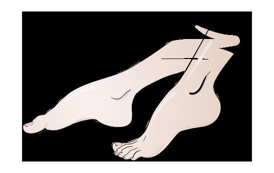 Pedikúra - Ilustrace